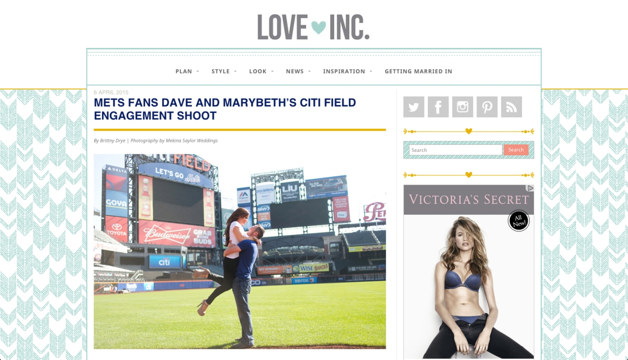 The Mets Engagement session - Love Inc. Magazine